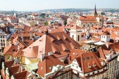 De daken van Praag Stock Fotografie