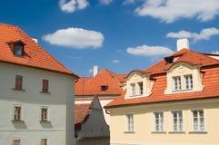 De daken van Praag Stock Afbeelding