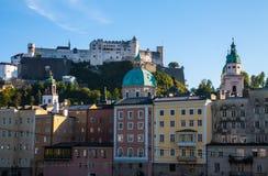 De daken van Salzburg Stock Foto's