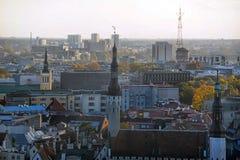 De daken van Tallinn Estland Stock Afbeelding
