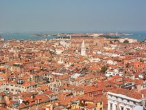De daken van Venetië Stock Foto