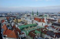 De daken van Wenen Royalty-vrije Stock Foto's