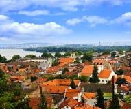 De daken van Zemun in Belgrado Royalty-vrije Stock Afbeelding