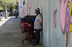 De dakloze mens van Seattle Stock Fotografie