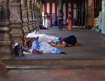 De daklozen van de familie Stock Fotografie