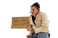 De Daklozen van de mens Stock Foto's