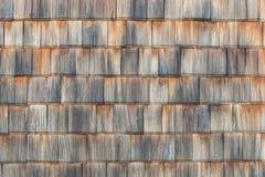 De dakspaan verouderde houten achtergrond copyspace Doorstane schokken, aardige gekleurde textuur Stock Afbeelding