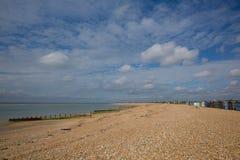 De dakspaanstrand van het Haylingseiland dichtbij het zuidenkust van Portsmouth van Engeland het UK Royalty-vrije Stock Afbeeldingen