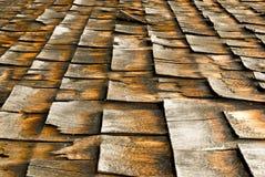 De Dakspanen van de ceder. Stock Afbeelding