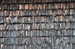 De dakspanen van het hout Stock Afbeelding
