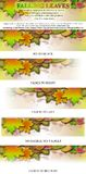 De dalende Banner van Masthead van het Embleem van Bladeren Stock Foto's