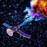 De dalende kunstmatige satelliet heeft zich opgebrand Royalty-vrije Stock Foto's