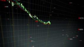 De dalende lijn van de voorraadindex vector illustratie