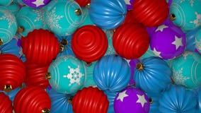 De dalende Overgang van Kerstmisballen stock footage