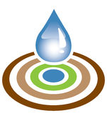 De daling en het doel van het water stock fotografie