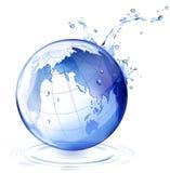 De daling van de aarde en van het water stock illustratie