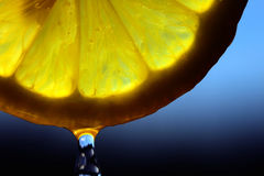 De daling van de citroen Royalty-vrije Stock Foto's