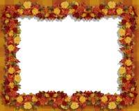 De Daling van de dankzegging verlaat en bloeit Frame stock illustratie