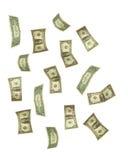 De daling van de dollar Stock Afbeelding