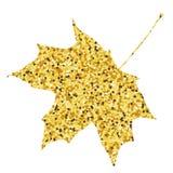 De daling van de herfst geel blad op boomachtergrond De gouden achtergrond van het esdoornblad Royalty-vrije Stock Fotografie