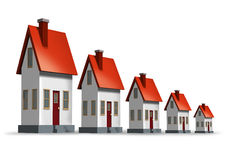 De Daling van de Immobiliënmarkt vector illustratie