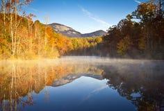 De Daling van de Rots van de Lijst van het Landschap Herfst van de Zuid- van Carolina Royalty-vrije Stock Foto