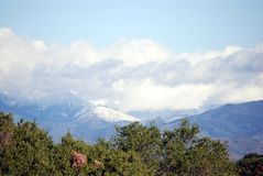De daling van de sneeuw op de heuvels Royalty-vrije Stock Afbeelding