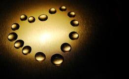 De daling van het de vormwater van het hart Royalty-vrije Stock Foto