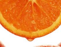 De daling van het jus d'orange royalty-vrije stock afbeeldingen