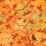 De daling verlaat bloemen naadloos patroon De herfst boswi als achtergrond royalty-vrije stock foto