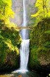 De dalingen en de brug van Multnomah Stock Afbeeldingen