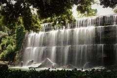 De dalingen tuinieren in Eur meer, Rome Royalty-vrije Stock Afbeelding