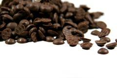 De dalingen van de chocolade Stock Foto's