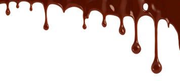 De dalingen van de chocolade Royalty-vrije Stock Afbeeldingen