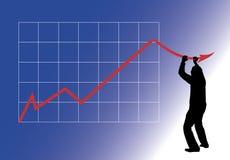 De dalingen van de grafiek Royalty-vrije Stock Foto