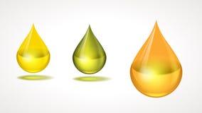 De dalingen van de olie Royalty-vrije Stock Foto's