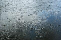 De dalingen van de regen