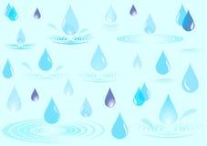 De dalingen van de regen royalty-vrije stock fotografie