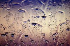 De dalingen van de regen op glas Royalty-vrije Stock Fotografie