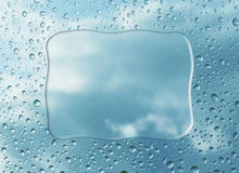 De dalingen van de regen op glas royalty-vrije illustratie