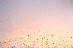 De dalingen van de regen op het venster Stock Afbeelding