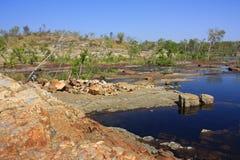 De dalingen van Edith, het Nationale Park van Nitmiluk, Noordelijk Grondgebied, Australië royalty-vrije stock afbeelding