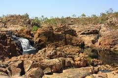 De dalingen van Edith, het Nationale Park van Nitmiluk, Noordelijk Grondgebied, Australië stock afbeeldingen