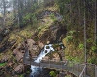 De Dalingen van Golling van de Gollingswaterval, Salzburg, Oostenrijk Stock Foto's