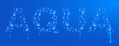 De dalingen van het Aquawater Vector Illustratie