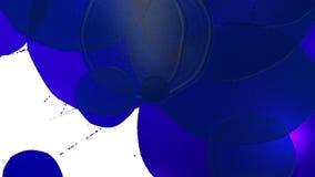 De dalingen van het blauwe inktdruppeltje op de witte oppervlakte 3d geef vloeistof zoals sap met zeer hoog detail en alpha- mask royalty-vrije illustratie