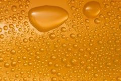 De dalingen van het water op glas Royalty-vrije Stock Afbeelding