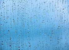 De Dalingen van het water op Glas Royalty-vrije Stock Foto