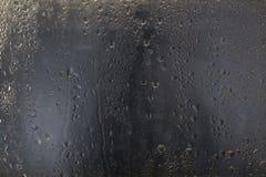 De Dalingen van het water op Glas Royalty-vrije Stock Fotografie
