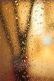 De dalingen van het water op het venster Stock Fotografie